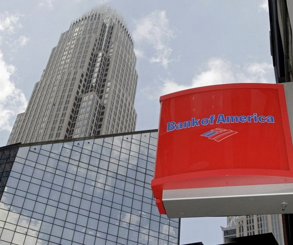 Bank of America has reduced the profit by 13%